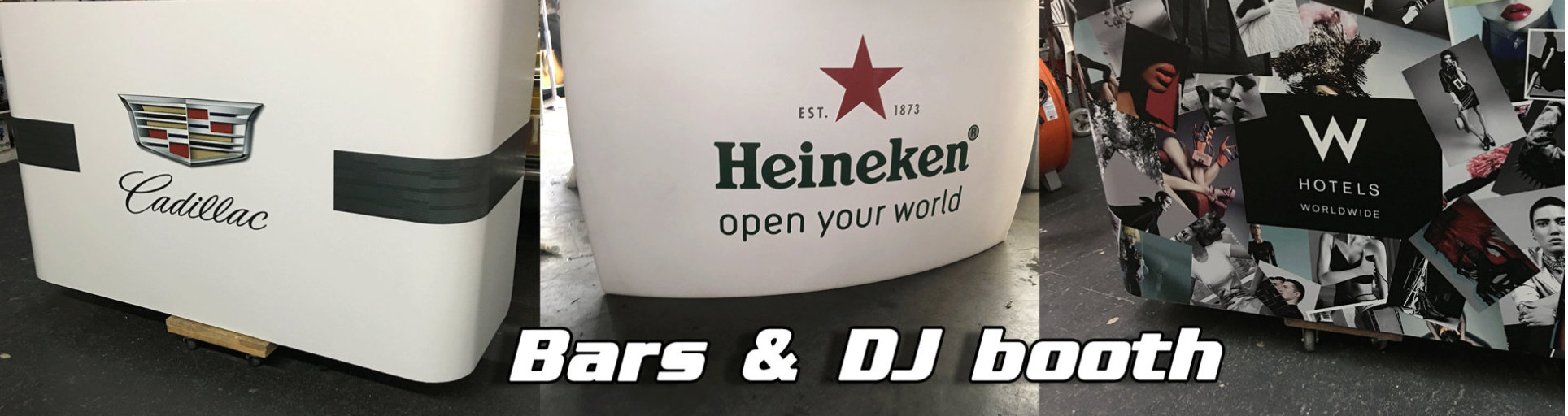 bars and DJ booth in wrap advertising