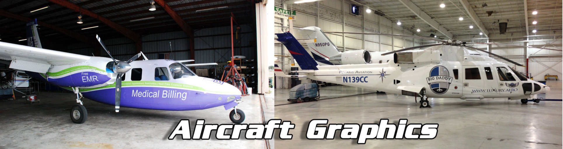 aircrafts with wrap designs