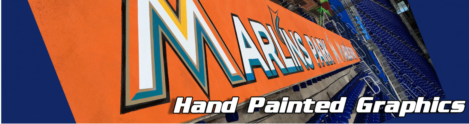 a hand-painted graphics of Marlin's Park