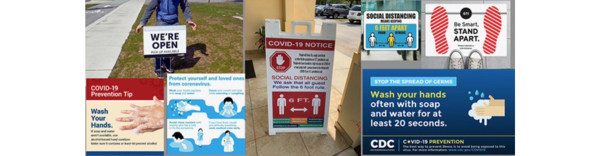 covid-19 signages